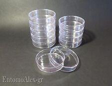 piastre capsule PETRI PS Ø60mm x10 contenitori plastica colture batteriche LAB.