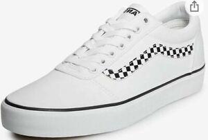 Vans Ward DX.Checker Stripe/White Low Top Skate Shoes Mens Size 10.5 Old School