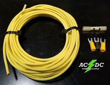 12 GA GAUGE 25 FT PRIMARY AUTO REMOTE POWER GROUND WIRE CABLE KIT (YELLOW)