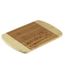 la tabla de cortar bambú BICOLOR incl. Grabado motivo CHEF COCINERO