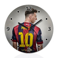 Leo Messi Football Round Wall Clock Home Office Room Decor