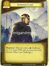 A Game of Thrones 2.0 LCG - 1x #043 Superior Claim - Base Set - Second Edition