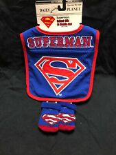 "Infant Bib & Bootie Set ""Superman"" ABG Accessories  NWT Super CUte"