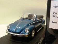 WOW EXTREMELY RARE VW Beetle Käfer 1303 Cabriolet 1974 Al Blue m 1:43 Minichamps