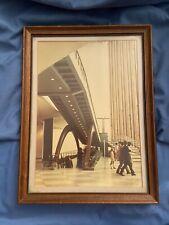 United Nations MCM Mid Century MODERN Escalator Machine Framed Matted Photograph