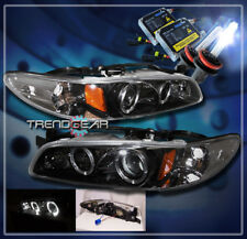 1997-2003 PONTIAC GRAND PRIX HALO PROJECTOR HEADLIGHT+HID 8K KIT BLACK GT GTP SE