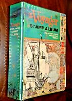 CatalinaStamps:  1965 Whitman Voyager Stamp Album with 1789 Stamps, D367