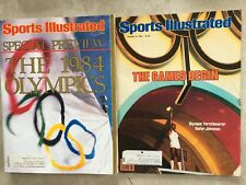 2 -1984 Sports Illustrated SI Issues - LA Los Angeles  Summer Olympics