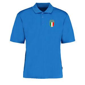 Italy Retro Football Royal Italia Supporter Azzurri Vintage World Cup POLO S-XXL