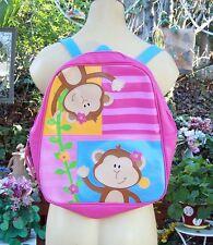 Stephen Joseph Girls Monkeis Backpack - Cute Kids School Book Bags