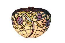 Sauvage Vigne Verre Teinté Style Tiffany Lampe Murale