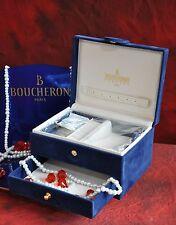 BOUCHERON VELVET JEWELLERY BOX, VINTAGE, VERY RARE, NEW