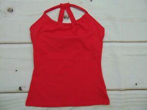 Prana Women's size Large Hot Pink Tank Top Built In Bra Yoga Running Gym