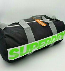 Superdry International Barrel Duffel Bag Gym Travel School Lime Green Holdall