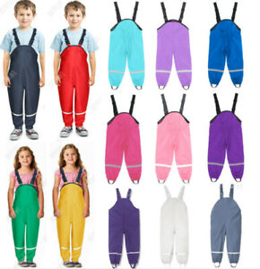2021 Neue Kinder Baby Matschhose Hose Regenhose Mädchen Jungen Hose Schlammhosen