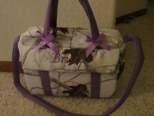 White Realtree camo Emijane handmade Diaper Bag w/chg pad FREE Embroidery