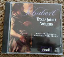 Schubert: Trout Quintet; Notturno (CD, Oct-2000, Amadis)