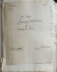 1816 MANOSCRITTO CAUSA COMUNE PENNE PESCARA AMMINISTRAZIO DEMANIO TERAMO ABRUZZO