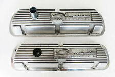 New! COMET 289 302 Valve Covers Polished Aluminum Pair  Powered by Ford