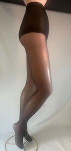 6 Pr Sheer Pantyhose Slightly Imperfect-Comfort Panty-4 sizes-Skintones, Black