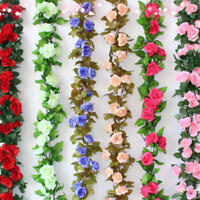 250cm Silk Roses Ivy Vine Artificial Flowers with Leaves For Home Wedding Decor