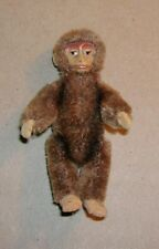 Antique Schuco Tiny Articulated Painted Face Plush Monkey