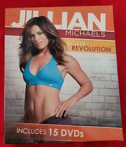 Jillian Michaels Body Revolution 15 DVDs 90 Day Weight Loss Program With Books