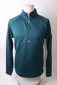 Adidas Men's Prime Green Equipment1/4 Zip Top - L - Green