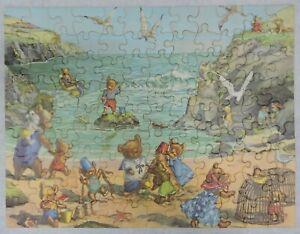 VTG TUCO TEDDY BEAR BEACH PICTURE PUZZLE-108 TRIPLE-THICK PIECES-ORIGINAL BOX