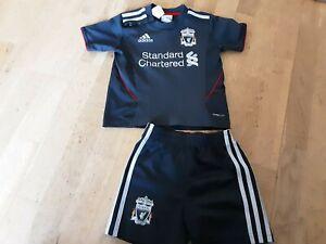 Liverpool Football Club Adidas Black Away Kit, size 12-18 months