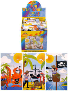 Mini Pirate Notepads / Note books Party Bag Filler Pinata Toy Select Qty.