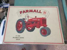 """Farmall H At Your McCormick-Deering Dealer Metal Tractor Sign 16"""" x 12"""""""