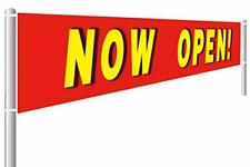 Large Now Open Sign Banner Advertising Flag For Store Sales Grand Opening Ret