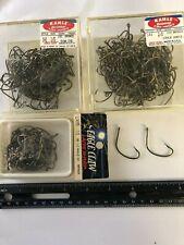 Eagle Claw Kahle horiz, 141 2/0, 1/0 Br fish hooks L141Fs lazer sharp