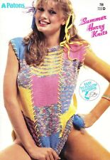 Patons SUMMER HURRY KNITS #759 Easy Patterns 1980s Sexy Sassy 8 Patterns