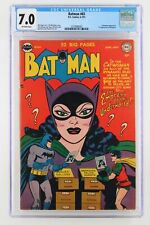 Batman #65 - DC 1951 CGC 7.0 - A Catwoman Appearance. 1st Appearance of Wingman!