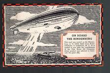 1936 Hamburg Germany Hindenburg Zeppelin postcard cover Veedol Oil Company to US