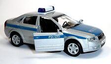 Dt. coche de policía uso vehículo audi a4 3.0 aprox. 11,5 cm coche modelo Welly mercancía nueva