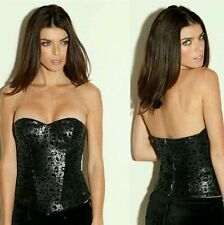Guess leopard SEQUINED BUSTIER TOP