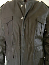 VALLIANI ITALIAN REAL LEATHER brown mens coat JACKET WITH EXCLUSIVE SILK LINING