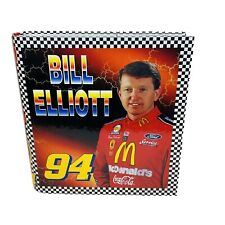 Vintage 90s Nascar Driver Bill Elliot School 3 Ring Binder Notebook
