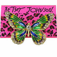 Betsey Johnson Colorful Crystal Rhinestone Butterfly Brooch Pin Women Party