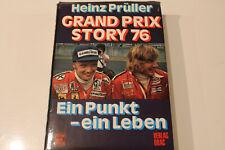 Formel 1 Buch Grand Prix Story 76 Heinz Prüller mit Lauda und Hunt 1976