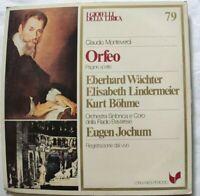ORFEO CLAUDIO MONTEVERDI LP WACHTER LINDERMEIER BOHME VINYL ITALY 1981 NM/NM