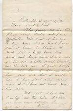 1876 Davis Family Personal Love Letter Bellville Shiloh Columbus Cursive Writing