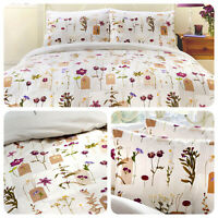 Dreams & Drapes Floral Bedding Set - Duvet Quilt Cover and Pillowcases Flowers