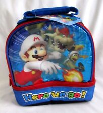 Super Mario Brothers Mario Bowser King Koopa Dome Lunch Bag Lunchbox-Brand New!