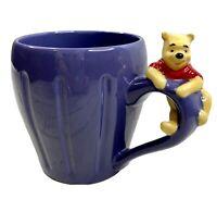 Disney Store Coffee Mug Winnie The Pooh On Handle Lavender 16 Ounces