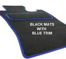 HONDA S2000 Tailored Fitted Custom Car Floor Mats Black with BLUE trim