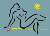 JACQUELINE DITT - Hot Girl - Miniatur ltd.Druck Grafik gerahmt signiert Akt